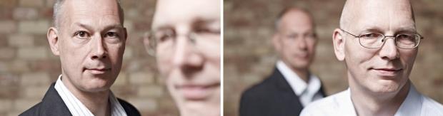 Portraits Christoph Burkardt und Albrecht Hotz