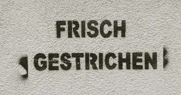 Graffiti Frisch gestrichen
