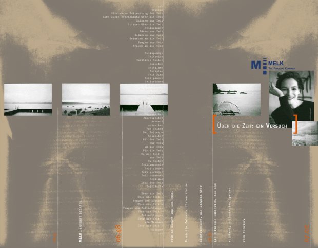 Cover der Broschüre Über die Zeit