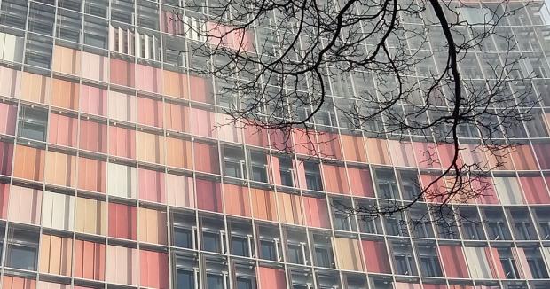 Foto der Fassade des GSW-Hochhauses