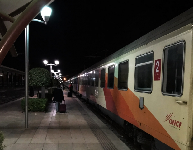 Foto im Bahnhof von Marrakech