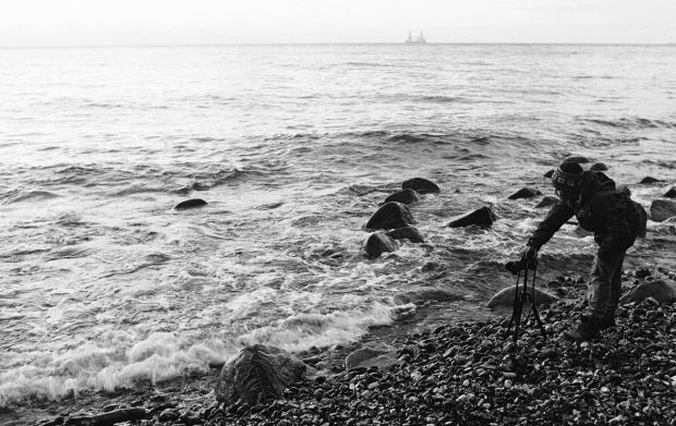 Foto: Noa am Ufer bei Sassnitz
